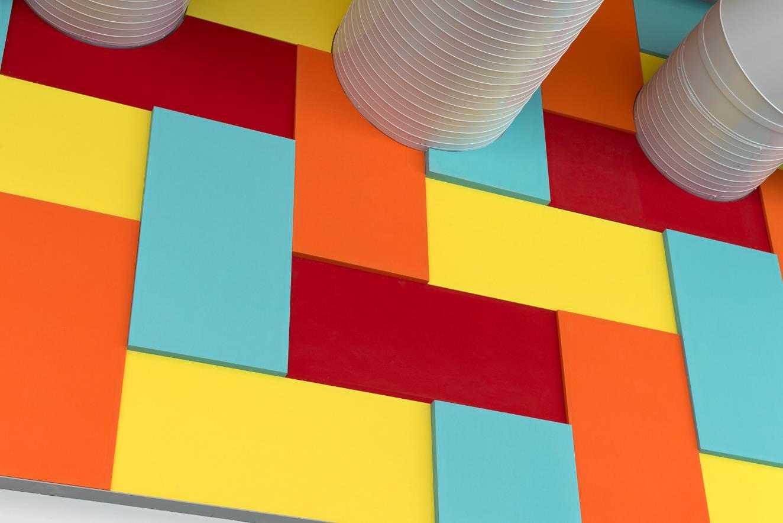 Otahuhu Recreational Centre - coloured Sonatex wall panels