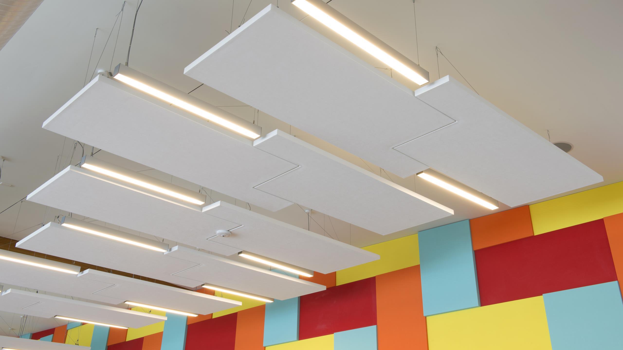 Otahuhu Recreational Precinct - Library interlocking Cloud panels